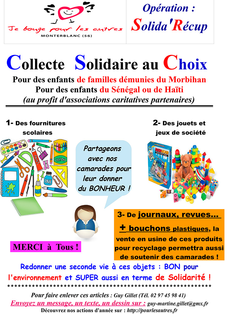 Affiche operation Solida Recup 2020